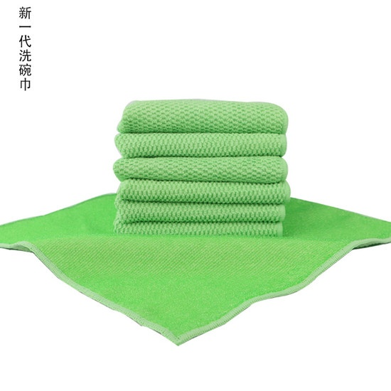 Microfiber cleaning Towels one side wiriness another side fabric
