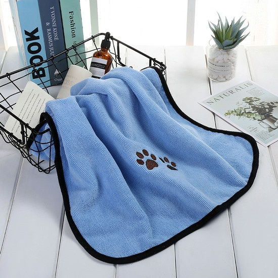 Pet towel  with paw logo for dog drying dog towel