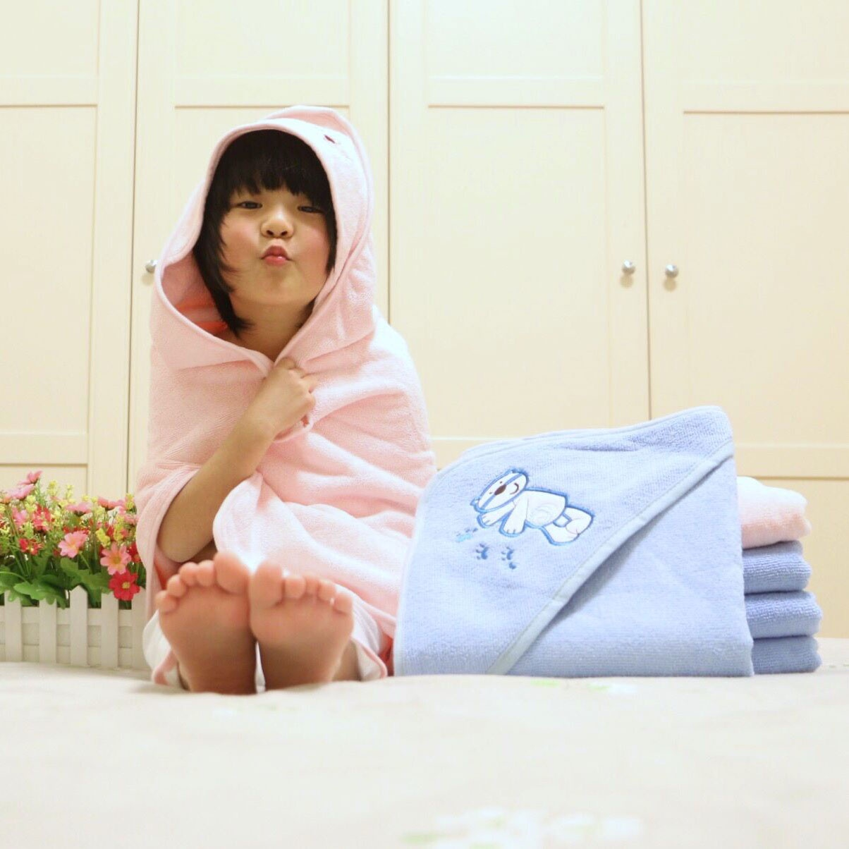 Baby hooded towels manufactuer microfiber baby towel cartoon towels factory direct